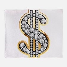 Gold Dollar Rich Throw Blanket
