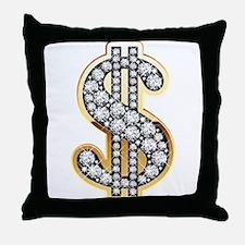 Gold Dollar Rich Throw Pillow