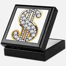 Gold Dollar Rich Keepsake Box
