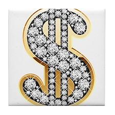 Gold Dollar Rich Tile Coaster