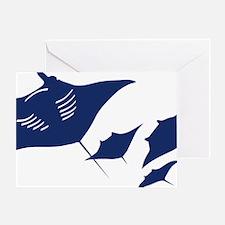manta ray rochen scuba diving fish t Greeting Card