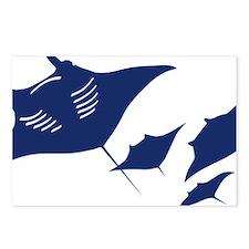 manta ray rochen scuba di Postcards (Package of 8)