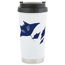 manta ray rochen scuba  Travel Mug
