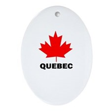 Quebec Oval Ornament
