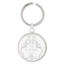 Scranton Electric City Shamrock Round Keychain