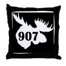 907_Moosehead_Black Throw Pillow