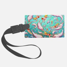 Swimming with Pink Dolphins Luggage Tag