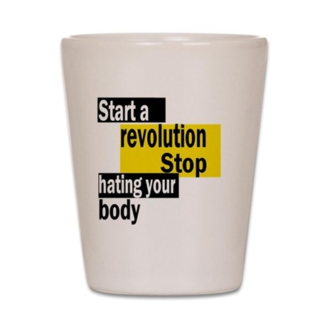 Start a revolution Shot Glass