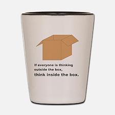Think Inside the Box Shot Glass