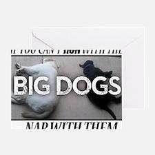 Run with Big Dogs - Labs Greeting Card