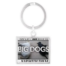 Run with Big Dogs - Labs Landscape Keychain