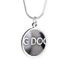 Run with Big Dogs - Labs Silver Round Necklace