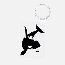 orca killer whale schwertw Keychains