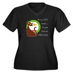 It's My Cat's World Women's Plus Size V-Neck Dark
