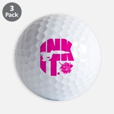 INK IT by seniadelic (pink) Golf Ball