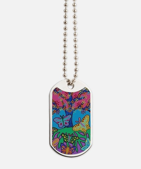Butterfly Gathering Tree Of Life - 2012 ( Dog Tags