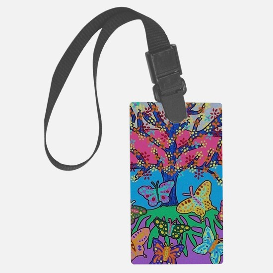 Butterfly Gathering Tree Of Life Luggage Tag