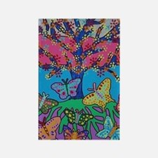 Butterfly Gathering Tree Of Life  Rectangle Magnet