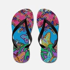 Butterfly Gathering Tree Of Life - 2012 Flip Flops
