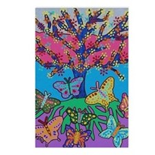 Butterfly Gathering Tree  Postcards (Package of 8)