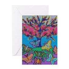 Butterfly Gathering Tree Of Life - 2 Greeting Card