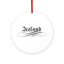 Iceland Gothic Ornament (Round)