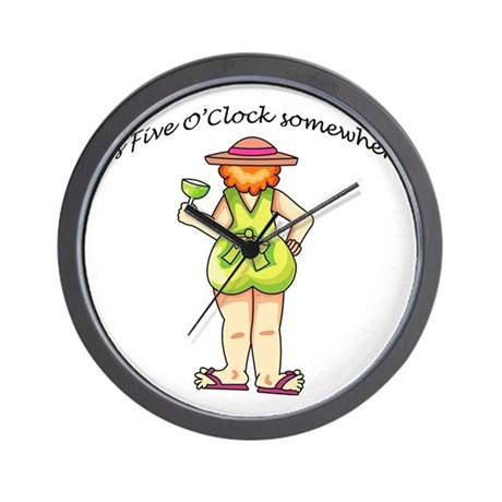 It's Five O'Clock Somewhere Wall Clock