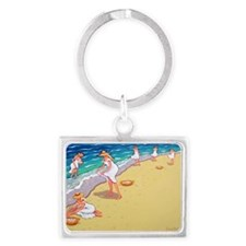 Sisters of the Sea- Beach Landscape Keychain