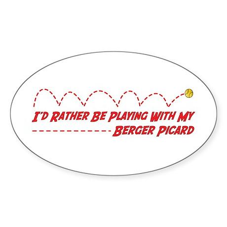 Berger Play Oval Sticker