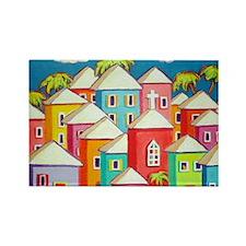 Little Village Rectangle Magnet