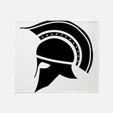 Greek Art - Helmet Throw Blanket