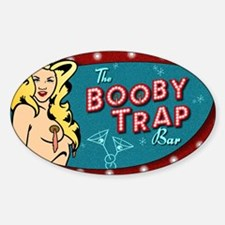 BOOBY TRAP BAR PIN-UP Sticker (Oval)
