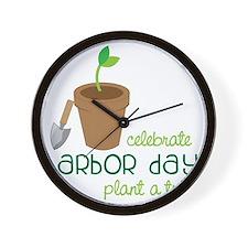Arbor Day Wall Clock