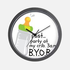 I DRINK UNTIL I PAS... Wall Clock