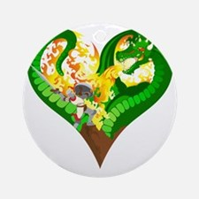 Dragon_Heart_10x10_apparel Round Ornament