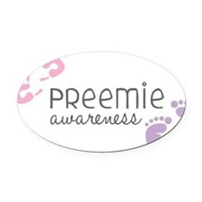 Preemie Awareness Oval Car Magnet