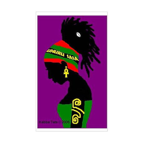 Uhuru Sasa! Rectangle Sticker