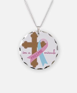 I'm a Miracle Necklace Circle Charm