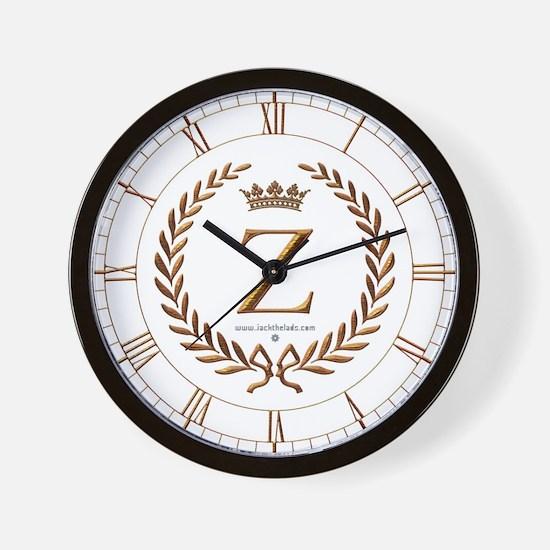 Napoleon initial letter Z monogram Wall Clock