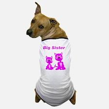 Big Sister Pink Kittens Dog T-Shirt