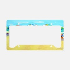Summer Color - Beach License Plate Holder