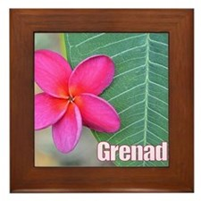 Grenada Flower Large Framed Tile