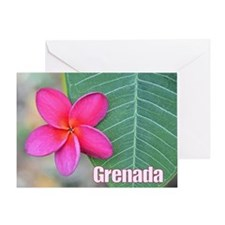 Grenada Flower Large Greeting Card