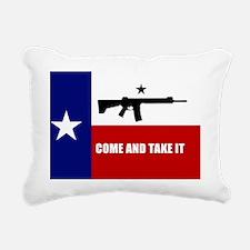 Texas Flag Banner Rectangular Canvas Pillow