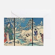 Laptop Hiroshige Garden-In-The-Snow Greeting Card