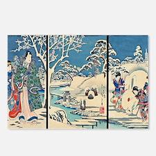 Laptop Hiroshige Garden-I Postcards (Package of 8)