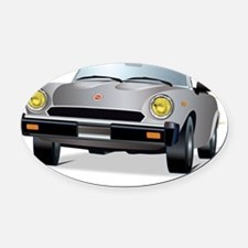 Foreign Auto Club -  Grey Italian  Oval Car Magnet