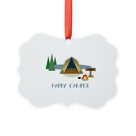 Happy Camper Picture Ornament