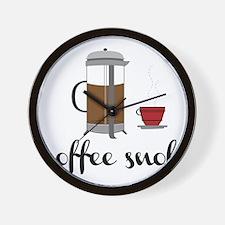 Coffee Snob Wall Clock