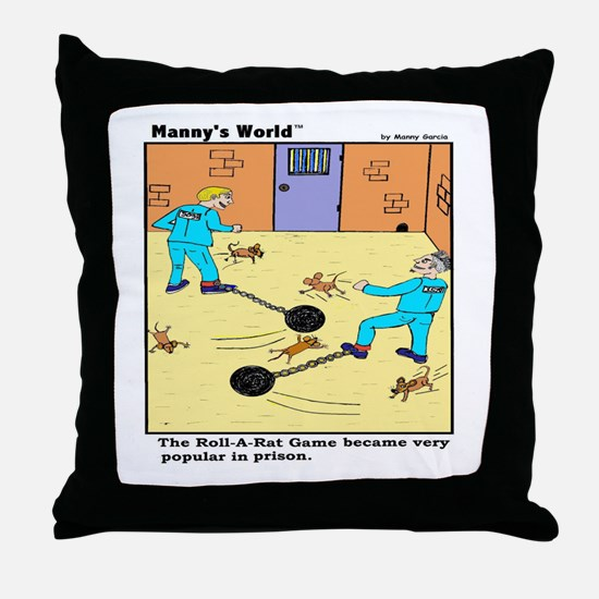 PRISON GAME ROLL-A-RAT Throw Pillow
